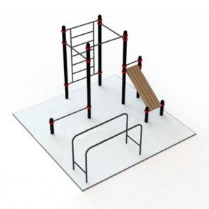 Воркаут площадка 1 (5х5 м)