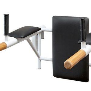 Брусья с подлокотниками и спинкой (деревянные ручки)